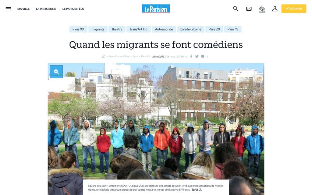 Le Parisien du 26 mars 2017